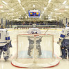 Hamilton College goaltender Anthony Tirabassi (34), Team<br /> <br /> 12/6/19 7:58:06 PM Men's Hockey: #13 Williams College v Hamilton College at Russell Sage Rink, Hamilton College, Clinton, NY<br /> <br /> Final:  Williams 0   Hamilton 1<br /> <br /> Photo by Josh McKee