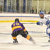 Hamilton College defender Nick Rutigliano (13)<br /> <br /> 12/6/19 8:04:35 PM Men's Hockey: #13 Williams College v Hamilton College at Russell Sage Rink, Hamilton College, Clinton, NY<br /> <br /> Final:  Williams 0   Hamilton 1<br /> <br /> Photo by Josh McKee