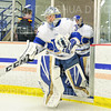 Hamilton College goaltender Anthony Tirabassi (34)<br /> <br /> 12/6/19 7:56:25 PM Men's Hockey: #13 Williams College v Hamilton College at Russell Sage Rink, Hamilton College, Clinton, NY<br /> <br /> Final:  Williams 0   Hamilton 1<br /> <br /> Photo by Josh McKee