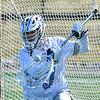 Hamilton College goalkeeper Luke Roberts (30)<br /> <br /> 3/7/20 1:35:25 PM Men's Lacrosse: Bowdoin College v Hamilton College at Withiam Field, Hamilton College, Clinton, NY<br /> <br /> Final:  Bowdoin 7   Hamilton 8<br /> <br /> Photo by Josh McKee