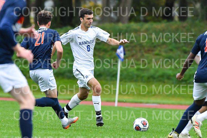 Hamilton College B Cam DiGiovanni (6)<br /> <br /> 10/2/19 5:39:21 PM Men's Soccer: Utica College v Hamilton College at Love Field, Hamilton College, Clinton, NY<br /> <br /> Final:  Utica 0  Hamilton 4<br /> <br /> Photo by Josh McKee