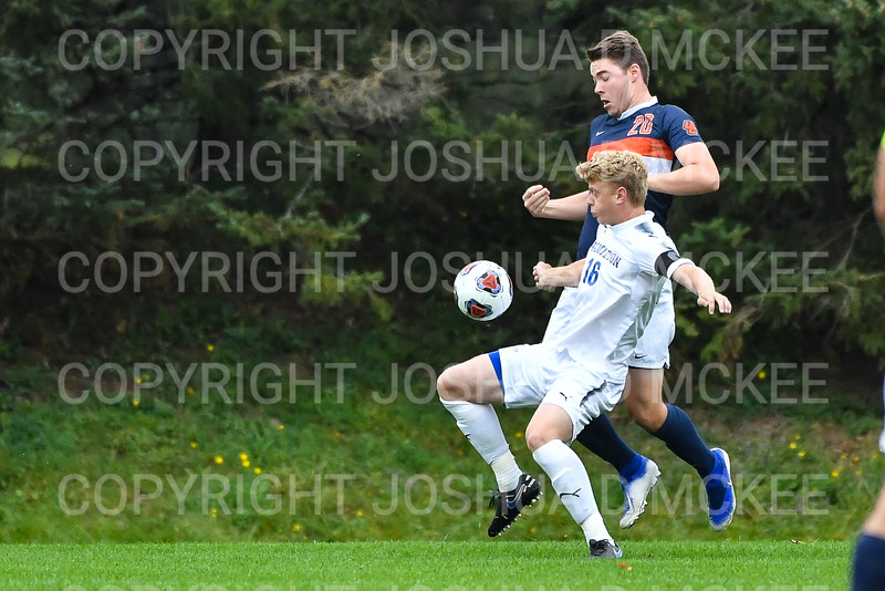 Hamilton College B Luke Eckels (16)<br /> <br /> 10/2/19 4:05:28 PM Men's Soccer: Utica College v Hamilton College at Love Field, Hamilton College, Clinton, NY<br /> <br /> Final:  Utica 0  Hamilton 4<br /> <br /> Photo by Josh McKee
