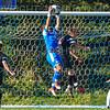 Hamilton College goalkeeper Thomas Benson (0)<br /> <br /> 10/19/19 3:13:01 PM Men's Soccer: Wesleyan University v Hamilton College at Love Field, Hamilton College, Clinton, NY<br /> <br /> Final:  Wesleyan  0  Hamilton 1 (OT)<br /> <br /> Photo by Josh McKee