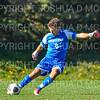 Hamilton College goalkeeper Thomas Benson (0)<br /> <br /> 10/19/19 2:47:49 PM Men's Soccer: Wesleyan University v Hamilton College at Love Field, Hamilton College, Clinton, NY<br /> <br /> Final:  Wesleyan  0  Hamilton 1 (OT)<br /> <br /> Photo by Josh McKee
