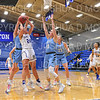 Hamilton College forward Claire Sehring (24)<br /> <br /> 1/17/20 8:40:07 PM Women's Basketball:  #1 Tufts University v Hamilton College at Margaret Bundy Scott Field House, Hamilton College, Clinton, NY<br /> <br /> Final: #1 Tufts 63  Hamilton 62<br /> <br /> Photo by Josh McKee