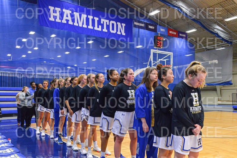 Team<br /> <br /> 12/9/19 8:04:47 PM Women's Basketball:  Utica College v Hamilton College at Margaret Bundy Scott Field House, Hamilton College, Clinton, NY<br /> <br /> Final: Utica 53  Hamilton 92<br /> <br /> Photo by Josh McKee
