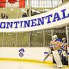 Hamilton College goaltender Sammy Johnson (35)<br /> <br /> 1/11/20 3:56:08 PM Women's Hockey:  Bowdoin College v Hamilton College at Russell Sage Rink, Hamilton College, Clinton, NY<br /> <br /> Final:  Bowdoin 4   Hamilton 3<br /> <br /> Photo by Josh McKee