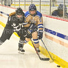 Hamilton College forward Hyla Mosher (14)<br /> <br /> 1/11/20 4:04:22 PM Women's Hockey:  Bowdoin College v Hamilton College at Russell Sage Rink, Hamilton College, Clinton, NY<br /> <br /> Final:  Bowdoin 4   Hamilton 3<br /> <br /> Photo by Josh McKee