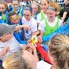 Hamilton College head coach Colette Gilligan, Team<br /> <br /> 9/14/19 11:03:41 AM Women's Soccer: Amherst College v Hamilton College at Love Field, Hamilton College, Clinton, NY<br /> <br /> Final: #10 Amherst 1   Hamilton 0<br /> <br /> Photo by Josh McKee