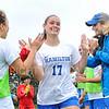Hamilton College defender Mackenzie Christensen (17)<br /> <br /> 9/14/19 11:00:28 AM Women's Soccer: Amherst College v Hamilton College at Love Field, Hamilton College, Clinton, NY<br /> <br /> Final: #10 Amherst 1   Hamilton 0<br /> <br /> Photo by Josh McKee