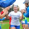 Hamilton College defender Claire Kaplan (21)<br /> <br /> 9/14/19 11:00:37 AM Women's Soccer: Amherst College v Hamilton College at Love Field, Hamilton College, Clinton, NY<br /> <br /> Final: #10 Amherst 1   Hamilton 0<br /> <br /> Photo by Josh McKee