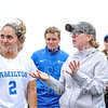 Hamilton College head coach Colette Gilligan, Team<br /> <br /> 9/14/19 11:03:25 AM Women's Soccer: Amherst College v Hamilton College at Love Field, Hamilton College, Clinton, NY<br /> <br /> Final: #10 Amherst 1   Hamilton 0<br /> <br /> Photo by Josh McKee