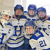 Hamilton College goaltender Sammy Johnson (35), Hamilton College defender Kelli Mackey (21), Hamilton College defender Michaela Giuttari (8), Hamilton College forward Timary Malley (12), Hamilton College defender Kelli Mackey (21)<br /> <br /> 2/29/20 1:24:45 PM Women's Hockey NESCAC Championships Quarterfinal:  Williams College v Hamilton College at Russell Sage Rink, Hamilton College, Clinton, NY<br /> <br /> Final: Williams 3   Hamilton 4 (<br /> <br /> Photo by Josh McKee