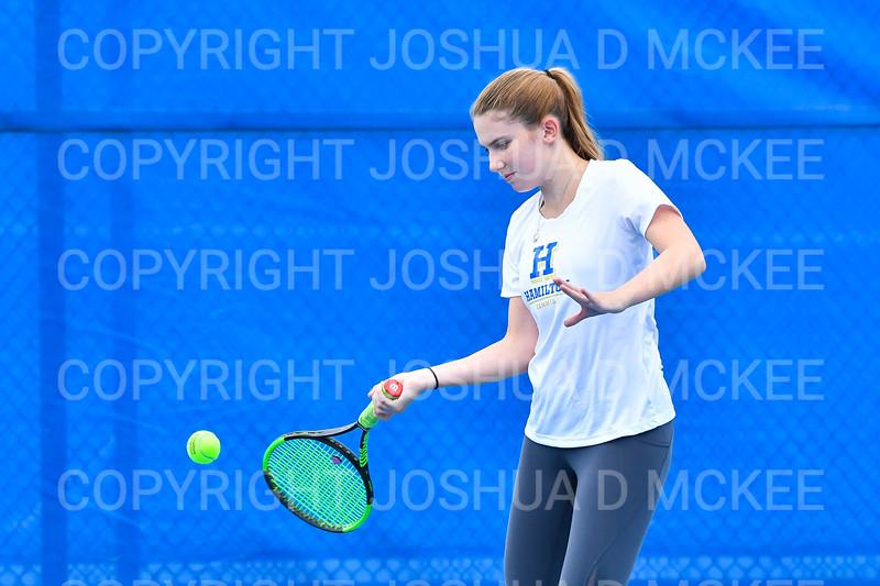 9/30/21 4:35:12 PM Hamilton College Men's and Women's Tennis Practice at the Tietje Family Tennis Center, Hamilton College, Clinton, NY<br /> <br /> Photo by Josh McKee