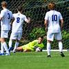 Hamilton College goalkeeper Ben Ziegler (1)<br /> <br /> 9/25/21 1:57:36 PM Men's Soccer: Middlebury College v Hamilton College at Love Field, Hamilton College, Clinton, NY<br /> <br /> Final: Middlebury  1  Hamilton 0<br /> <br /> Photo by Josh McKee