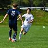 Hamilton College M Sam Webber (11)<br /> <br /> 9/25/21 1:58:10 PM Men's Soccer: Middlebury College v Hamilton College at Love Field, Hamilton College, Clinton, NY<br /> <br /> Final: Middlebury  1  Hamilton 0<br /> <br /> Photo by Josh McKee