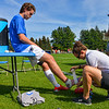 Trainer<br /> <br /> 9/25/21 1:35:14 PM Men's Soccer: Middlebury College v Hamilton College at Love Field, Hamilton College, Clinton, NY<br /> <br /> Final: Middlebury  1  Hamilton 0<br /> <br /> Photo by Josh McKee