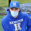 4/17/21 1:21:09 PM Baseball: Amherst College v Hamilton College at Loop Road Baseball/Softball Complex, Hamilton College, Clinton, NY<br /> <br /> Game 1:  Amherst  4    Hamilton  7<br /> Game 2:  Amherst  3    Hamilton  1<br /> <br /> Photo by Josh McKee