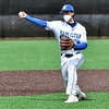 Hamilton College third baseman Matt McGoey (9)<br /> <br /> 4/17/21 1:10:26 PM Baseball: Amherst College v Hamilton College at Loop Road Baseball/Softball Complex, Hamilton College, Clinton, NY<br /> <br /> Game 1:  Amherst  4    Hamilton  7<br /> Game 2:  Amherst  3    Hamilton  1<br /> <br /> Photo by Josh McKee
