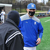 Hamilton College head coach Tim Byrnes<br /> <br /> 4/17/21 1:25:32 PM Baseball: Amherst College v Hamilton College at Loop Road Baseball/Softball Complex, Hamilton College, Clinton, NY<br /> <br /> Game 1:  Amherst  4    Hamilton  7<br /> Game 2:  Amherst  3    Hamilton  1<br /> <br /> Photo by Josh McKee