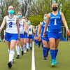 Hamilton College defender Kiera Wax (2), Hamilton College forward Emma Liebegott (1), Team<br /> <br /> 4/28/21 5:29:30 PM Field Hockey: Hamilton College Blue/White Scrimmage at Goodfriend Field, Hamilton College, Clinton, NY<br /> <br /> Final: White 3    Blue 2<br /> <br /> Photo by Josh McKee