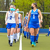 Hamilton College defender Kiera Wax (2), Hamilton College forward Emma Liebegott (1), Team<br /> <br /> 4/28/21 5:29:28 PM Field Hockey: Hamilton College Blue/White Scrimmage at Goodfriend Field, Hamilton College, Clinton, NY<br /> <br /> Final: White 3    Blue 2<br /> <br /> Photo by Josh McKee