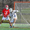 Hamilton College goalkeeper Max Scheidl (34)<br /> <br /> 4/10/21 4:03:05 PM Men's Lacrosse:  #16 Wesleyan University v Hamilton College at Withiam Field, Hamilton College, Clinton, NY<br /> <br /> Photo by Josh McKee