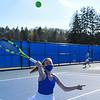 4/23/21 5:06:54 PM Hamilton College Men's and Women's Tennis Practice at the Tietje Family Tennis Center, Hamilton College, Clinton, NY<br /> <br /> Photo by Josh McKee