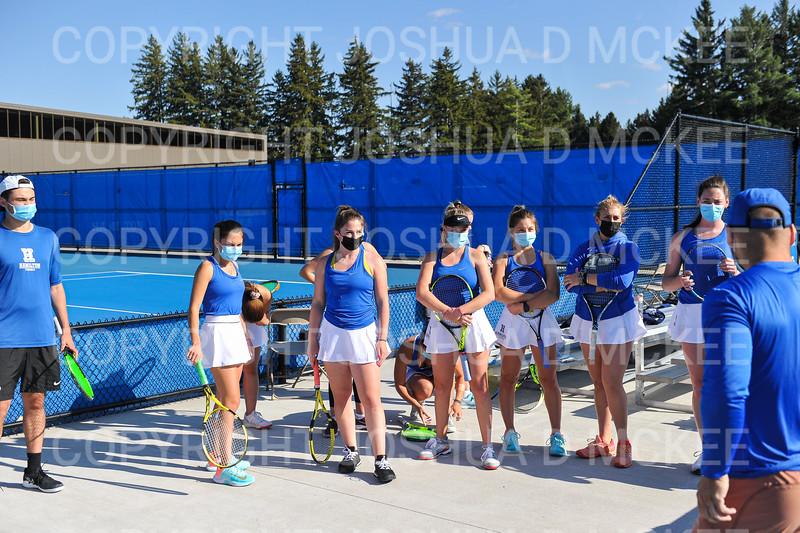 4/23/21 4:48:57 PM Hamilton College Men's and Women's Tennis Practice at the Tietje Family Tennis Center, Hamilton College, Clinton, NY<br /> <br /> Photo by Josh McKee