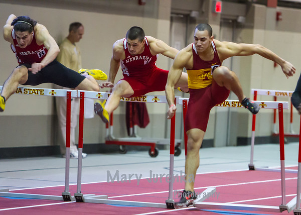Iowa State University Classic-annual track meet 2014  Men's Hurdles