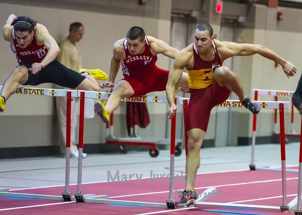 Iowa State University Classic-annual track meet 2014  Men's Hurdles