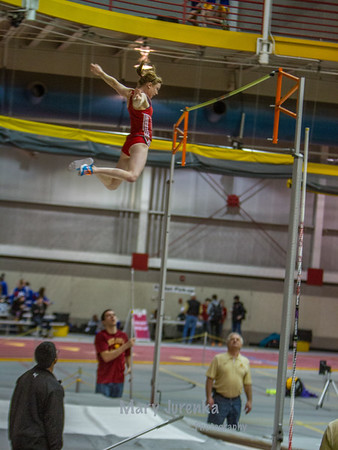 Iowa State University Classic-annual track meet 2014  pole vault