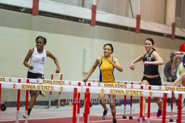 Iowa State University Classic-annual track meet 2014  Women's Hurdles