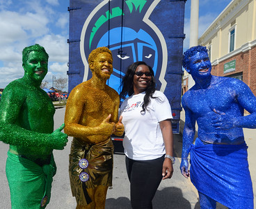 Students tailgate at the UWF Homecoming Game against Delta State Saturday, October 14, 2017 at Blue Wahoos Stadium.
