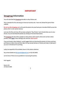 Important Info on Smugmug