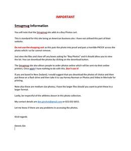 003 Smugmug Information