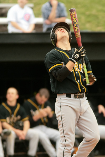 DePauw played Washington University- St. Louis on April 8, 2008.  After trailing 1-0 for much of the game, the Tigers scored three runs in the bottom of the sixth, going on the win 4-1 in seven innings.  <br /> THE DEPAUW/ ALEX TURCO