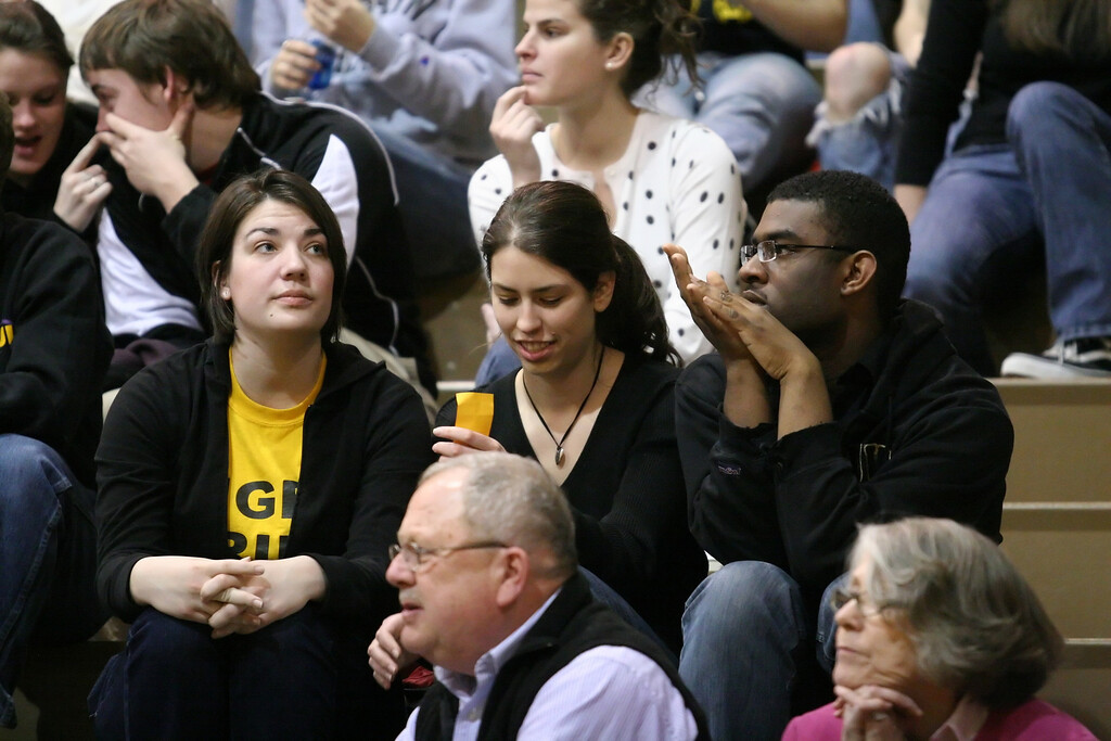 during the DePauw women's basketball game against Washington University- St. Louis in the second round of the NCAA division three tournament, March 8, 2008.  The Tigers won 73-66, advancing to the NCAA Division III round of sixteen.  PHOTO BY ALEX TURCO