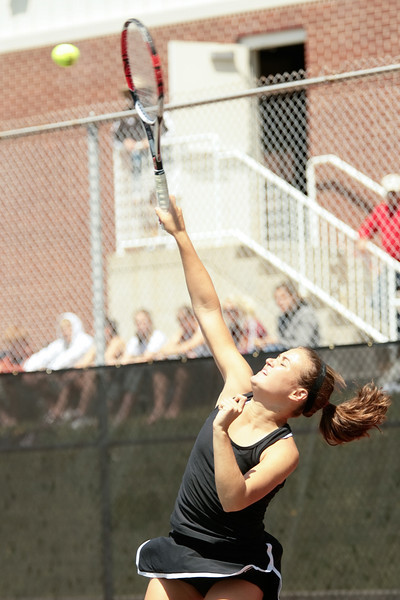 DePauw plays Dennison in the third round of the NCAA Division III tournament, May 4, 2008.  Eighth-ranked DePauw fell 5-1 to the Big Red. Photo by Alex Turco