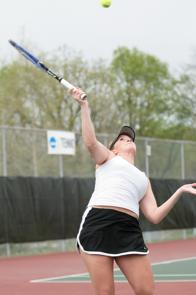 DePauw women's tennis plays Kenyon in the second round of the NCAA Division III Women's Tennis Championships, Saturday, May 3, 2008.  DePauw won 5-0, advancing to the third round.  Photo by Alex Turco