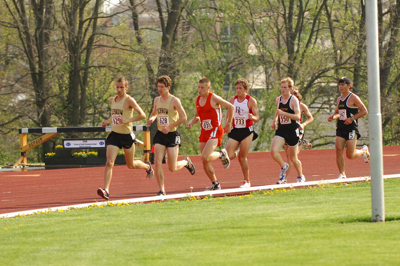 DePauw hosts the 2008 spring SCAC championships in tennis, golf, and track and field.  Photo by Alex Turco