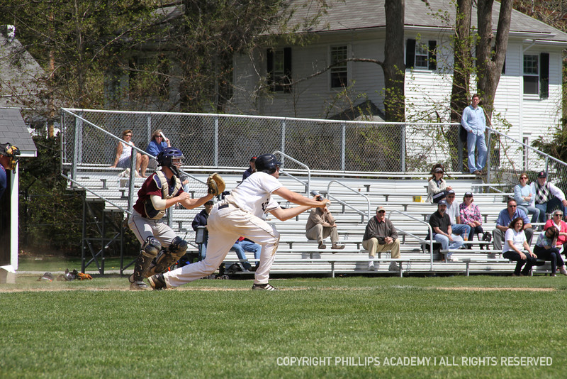 Captain Thomas Palleschi '12 lays down a sacrafice bunt and advances the runners to second and third.