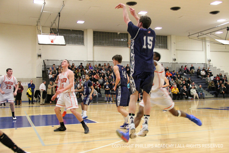 Brendan O'Connell '15 takes a jump shot.