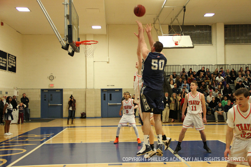 Co-captain Palleschi '12 takes a jump shot from the corner.
