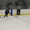 Michael Kim '14 makes it across the blue line.