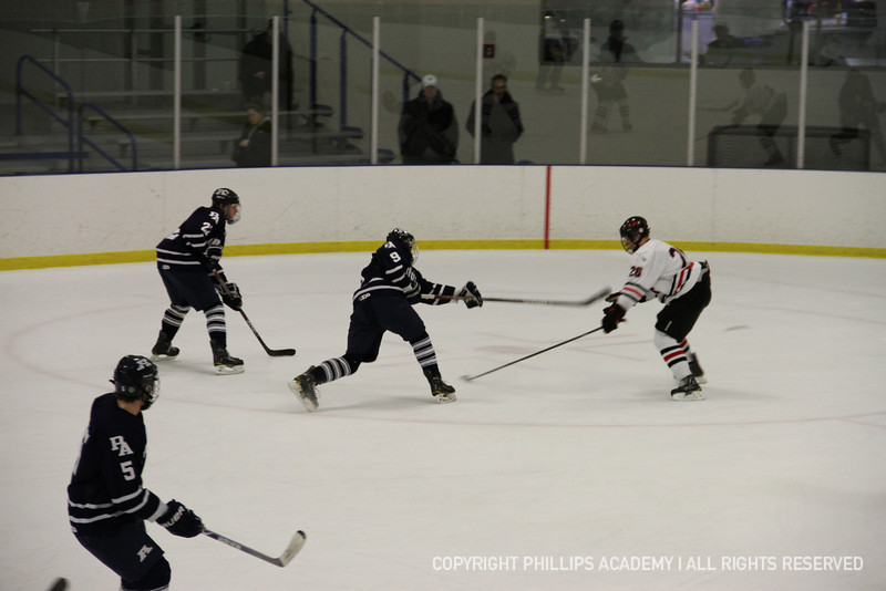 Captain Ellis '13 triggers a shot on net.