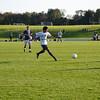 Andover kicks the ball downfield.