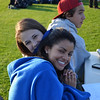 Team managers, Gabriella Cirelli '12 and Isabel Elson '12 smile for the camera.