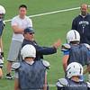 Coach Bernieri shows his enthusiasm on the field.
