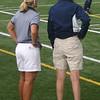 Coaches Martha Fenton and Kate Dolan on the sideline.